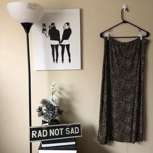Plus Size Vintage Cant Miss Leopard Maxi Skirt